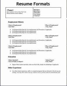 How To Type A Proper Resume Types Resume Format Examples Resume Format Download