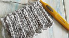how to crochet looks like knitting with half