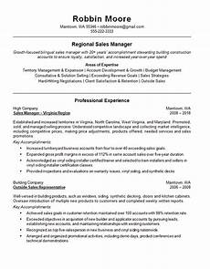 Example Of Sales Resumes Outside Regional Sales Resume Example Building Supplies