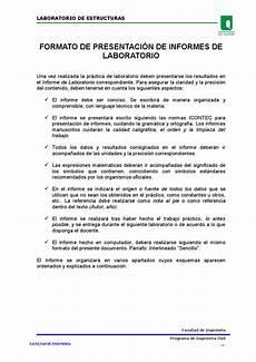 Formato De Informe Escrito Formato De Presentaci 243 N De Informes De Laboratorio By