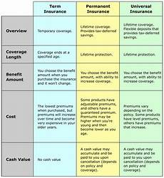 Different Types Of Life Insurance Chart Types Of Life Insurance