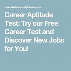 Career Test Free Career Infographic Career Aptitude Test Try Our Free