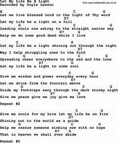Love Light Lyrics Let My Life Be A Light Bluegrass Lyrics With Chords