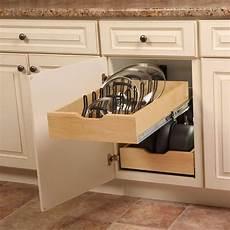 pot pan lid cabinet organizer real solutions sliding mount