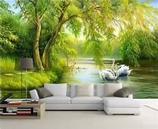 home decor wall murals custom mural photo 3d living room wallpaper swan lake