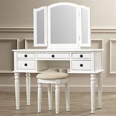 vanity set with mirror stool seat white bedroom makeup