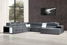 Gray Sectional Sofa 3d Image by Polaris Grey Bonded Leather Sectional Sofa