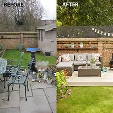 before and after we turned our garden into an outdoor