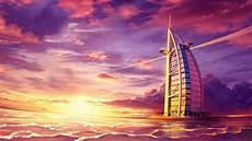 background wallpaper in 4k wallpaper burj al arab sunset seascape digital paint