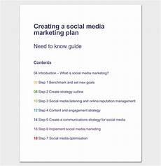 Social Media Strategy Outline Marketing Plan Outline Template 16 Examples For Word
