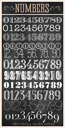 Fonts For Numbers The 36th Avenue Free Fonts And Printable Combinations