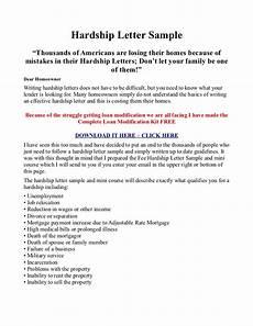 Sample Of Hardship Letter For Loan Modification Hardship Letter Sample And Testimony