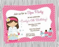 Spa Party Invitation Wording Diy Girl Spa Birthday Party Invitation 4 Coordinating Items