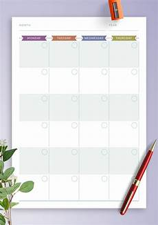 Free Printable Monthly Planner Download Printable Monthly Calendar Planner Undated
