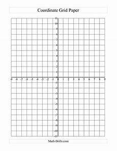 Graph Paper With Numbers The Coordinate Grid Paper Large Grid A Math Worksheet