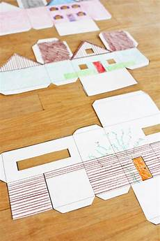 3d Paper House Cutouts Design For Kids Paper Houses Kid Activities Paper