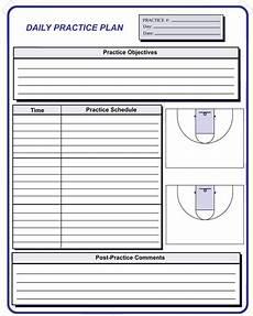 Basketball Practice Plan Template Free Basketball Coaching Forms