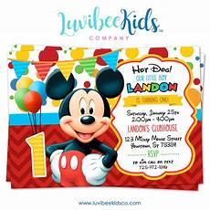 Custom Mickey Mouse Invitations Mickey Mouse Birthday Invitation Printable Invite