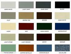 Tin Roofing Color Chart Color Chart Dixie Building Supply