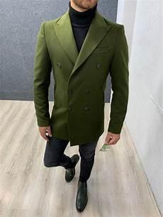coats slimfit ade khaki slim fit coat gent with