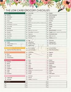 low carb diet grocery shopping checklist list south