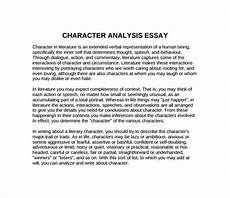Character Sketch Essay Example Free 8 Sample Character Analysis Templates In Pdf Ms Word