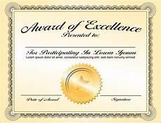 Free Award Certificate Award Template Business Mentor