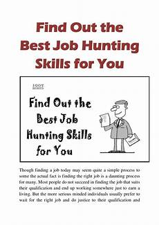 Best Job Hunting Website Find Out The Best Job Hunting Skills For You