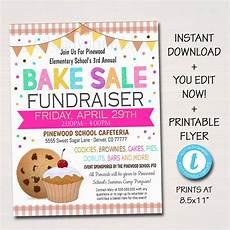 Bake Sale Poster Templates Free Editable Bake Sale Flyer Printable Pta Pto Flyer School