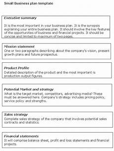 Standard Business Plan Outline Small Business Plan Template Small Business Plan Small