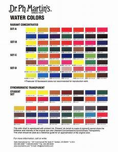 Ab Martin Color Chart Dr Ph Martin S Radiant Concentrated Watercolor Color