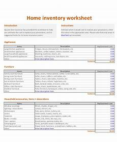 House Inventory Sheet 6 Home Inventory Worksheet Templates Pdf Free