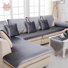 american grey camel solid velvet sofa cover flannel