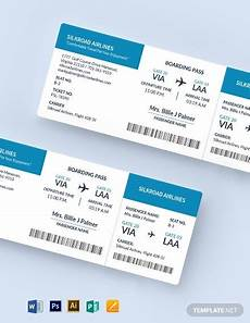 Blank Airline Ticket Template 10 Blank Ticket Templates Illustrator Indesign Ms