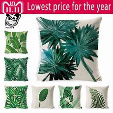 tropical pillow cover cushion green leaf of tropical