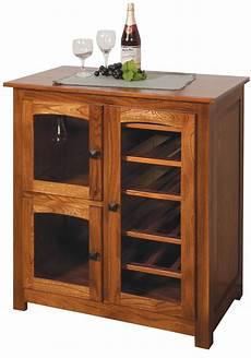amish made shaker wine cabinet