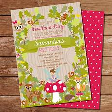 Fairy Party Invite Enchanted Forest Fairy Invitation Woodland Fairy Invite