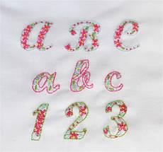 the handmade dress embroidered alphabet