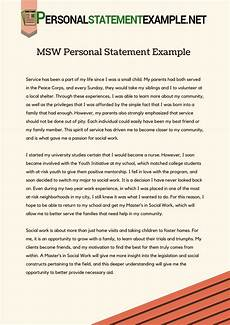 Care Worker Personal Statement Msw Personal Statement Example