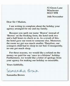 Complaint Letter Format Complaint Letter Formats Template Business