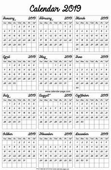 A4 Calendar Template Blank 2019 Calendar Free Download Printable Calendar