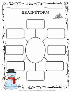 Brainstorming Template Teacher S Lounge Winter Themed Writing Bundle