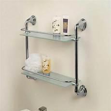 etagere bathroom chrome 2 tier glass wall mounted bath bathroom shelves
