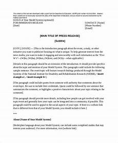 Press Release Example For Event Press Release Template 21 Free Word Pdf Document