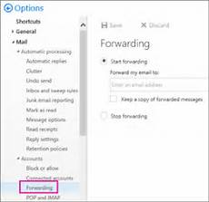 auto forward meneruskan email dari office ke akun email