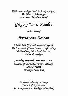 Deacon Ordination Invitations The Deacon S Bench