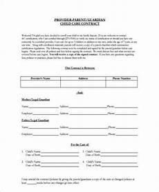 Simple Daycare Contract Free 9 Sample Daycare Contract Forms In Pdf Ms Word