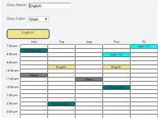 Schudule Maker 5 Free Websites To Create Timetable Online