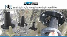 Drainage Filters Jetfilter The Maintainable Weep Hole Drainage Filter
