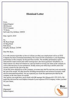 Vendor Termination Letter Dismissal Letter 01 Best Letter Template
